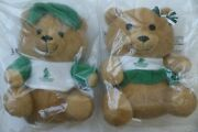 2 Singapore Airlines Green Signature Teddy Bear Boy And Girl Toy Set First Class