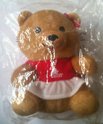 Singapore Airlines Stuffed Teddy Bear Girl Toy Red Collectible First Class New