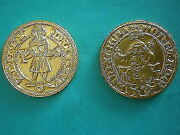 Lot Of Two Brass Plaque / Medal Kremnica And Kosice In Slovakia, Medallic Art