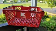 Vintage Red Kmart Store Hand Shopping Basket Retail Collectible