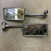 1930s Gm Accessory Rectangle Mirror Clamp On Matched Pair Lowrider Bomb Ammo