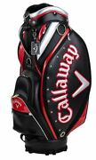 Callaway Golf Caddy Bag Exia Cart Type Men2021 Black/red Synthetic Leather Sport