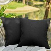 Outdoor Pillows For Patio Furniture Waterproof Pillow 20 X 20 Inch Black Covers