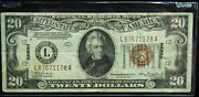1934a 20 Hawaii Silver Certificate Vf Condition
