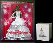 2008 Holiday Barbie Doll Collector Hallmark Ornament African American Aa Lot 2 O