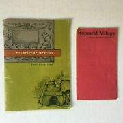 Vintage Hopewell Village-jr History Guide 1962 And Hopewell Village Pamphlet 1968