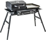 Portable Bbq Grill Box Blackstone Tailgater Gas Flat Top Griddle Combo Cast Iron
