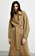 Zara Women New Wool Blend Belted Oversized Coat Taupe Brown Camel 7522/059 Xs-m