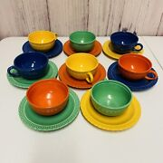 8 Vintage Vistosa Taylor Smith Tsandt Cups And Saucers
