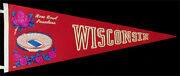 University Of Wisconsin Rare Vintage Rose Bowl Pennant Ncaa 1960 Badgers Wc