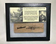 Samuel Mudd House Wood Lath And Nail Relic C1830 Civil War Abe Lincoln Booth Rare