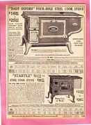 1917 Smyth Merchandise Catalog Vintage Page  Antique Daisy Oxford Cook Stoves