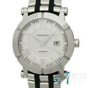 Tiffanyandco. Atlas Z1000.70.12a.21a.00a White Dial Automatic Menand039s Watch Ex++