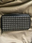 Chrome Hearts Silver Stud / Leather Black Long Wallet