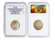 1862 Half Rupee Victoria With Double Die Letter Error High Grade Silver Coin