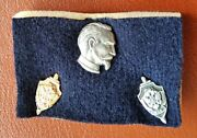 Russia, Commemorative Pin-badge Set For Kgb And Fsb Officers, Silver And Alloy