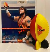 Series 1 Limited Edition Wwf Adam Bomb Bomb Squad Reproduction Footballs And 8x10