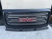 2015 2016 2017 2018 Gmc Canyon Front Grill Black Used Oem