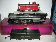 Mth 20-3032-1 And 20-91046 Nkp Berkshire 2-8-4 Ps1 And Caboose ,lot 21250