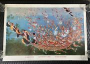 Vintage Original Chinese Propaganda Poster The Communeand039s Fish Pond 1986 Export
