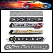 60th Grand Touring Gts Excalibur For Car Fender Trunk Decal Emblem Badge Sticker