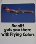 Braniff International Gets You There With Flying Colors Poster Boeing 727