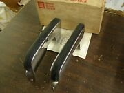 Nos Oem 1973 Chevrolet Monte Carlo Front Bumper Guards Guard Kit Chevy