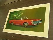 Oem Chevrolet 1969 Impala Convertible Dealership Display Picture Cardboard Chevy