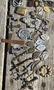Vintage Lot Rosary Religious Crucifix Catholic Cross Medals Prayer Parts Italy