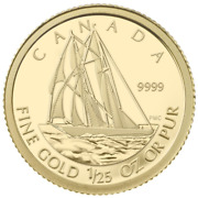 Canada 2012 50 Cent The Bluenose - Pure Gold Coin Tax Exempt