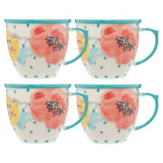 Coffee Cup Set The Pioneer Woman 4-piece 16-ounce Vintage Bloom New
