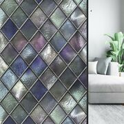 Pvc Static Cling Frosted Stained Glass Film Door Window Vinyl Sticker Room Deco.
