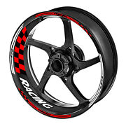 Red Motorcycle Gp03 17 17 Inch Wheel Rim Stickers Decals Stripes Tape For Honda