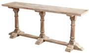 72 Liberata Restoration Hardware Style Pedestal Solid Wood Console Table Buffet