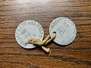 Wwi Us Army Medical Dept Jefferson Medical College Dog Tags Maurice Goldrick