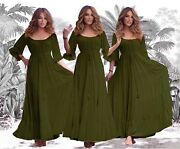 Womenandrsquos Clothing Wiccan Maxi Dress Viking Renaissance Empire Bust All Size B1621