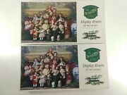 Lot 2 Byers Choice Carolers Display Risers, One New