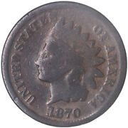 1870 Indian Head Cent Good Penny Gd See Pics H162