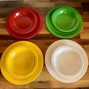 Vintage Texas Ware Dallas Ware Dinner Plates 9andrdquo And Bowls 7andrdquo Lot Of 8 Colorful
