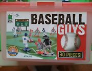 Kaskey Kids Baseball Guys Plastic Toys Field Players Red Blue Ump Turf Complete