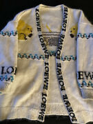 Loewe Squirrel Cardigan Mohair White Ivory Size S