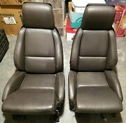1984-96 Corvette C4 Bronze Leather Power Electric Seats And Tracks And Motors