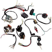 50cc-125cc Cdi Wire Harness Stator Assembly Wiring Kit Electric For Quad Gy6