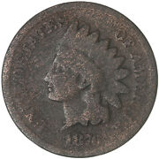 1876 Indian Head Cent Good Penny Gd Old Cleaning See Pics G553