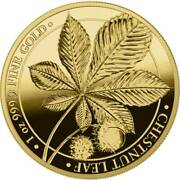 Chestnut 2021 Proof 100 Mark 1 Oz Pure Gold .9999 Round Coin - Box And Coa