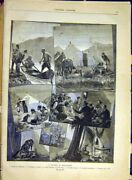 Original Old Antique Print Montenegro Travels Moracha People French 1880 19th