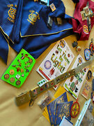 Cub Scout Shirt, Scarves, Pins, Awards, Belt Loops, Book, Patches Lot