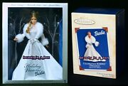 2003 Holiday Visions Barbie Doll Collector Hallmark Christmas Ornament Lot 2 Vg