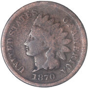 1870 Indian Head Cent Good Penny Gd See Pics J206