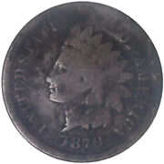 1870 Indian Head Cent Good Penny Gd See Pics J207